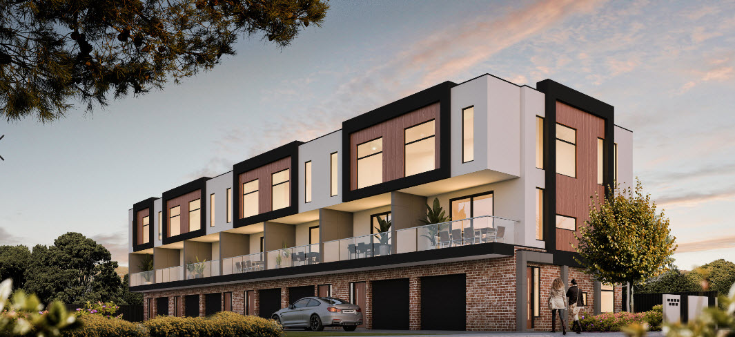 Three storey residential flat building