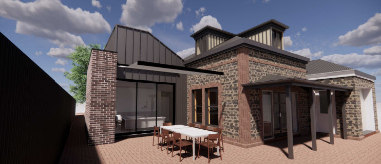 Residential extension to heritage building